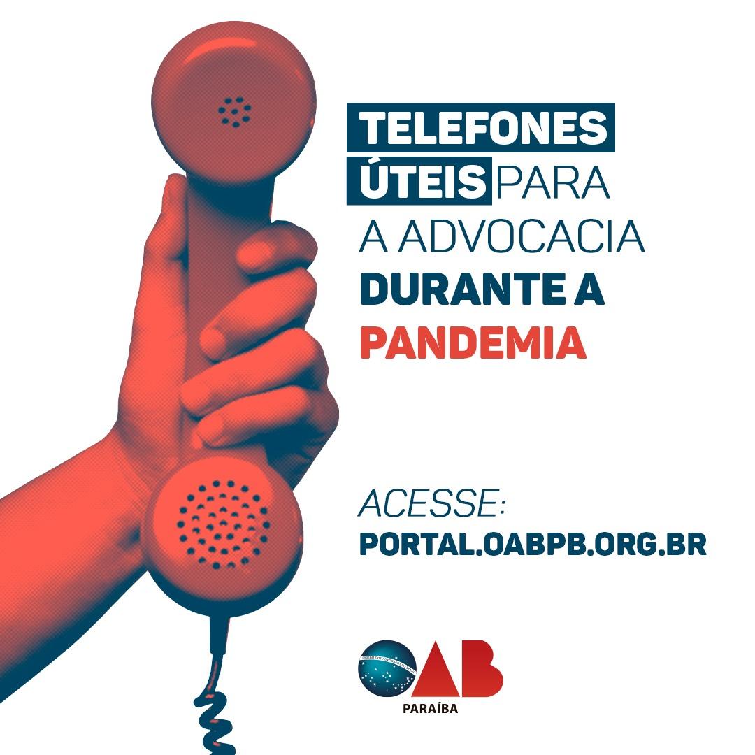 OAB-PB informa a advogados contatos úteis de Tribunais, Ministérios Públicos e outros órgãos do sistema jurídico
