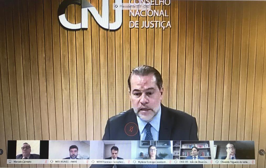 João de Deus participa de visita virtual do presidente do STF Dias Toffoli ao TJPB