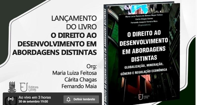 UFPB lança livro sobre direito ao desenvolvimento em abordagens distintas
