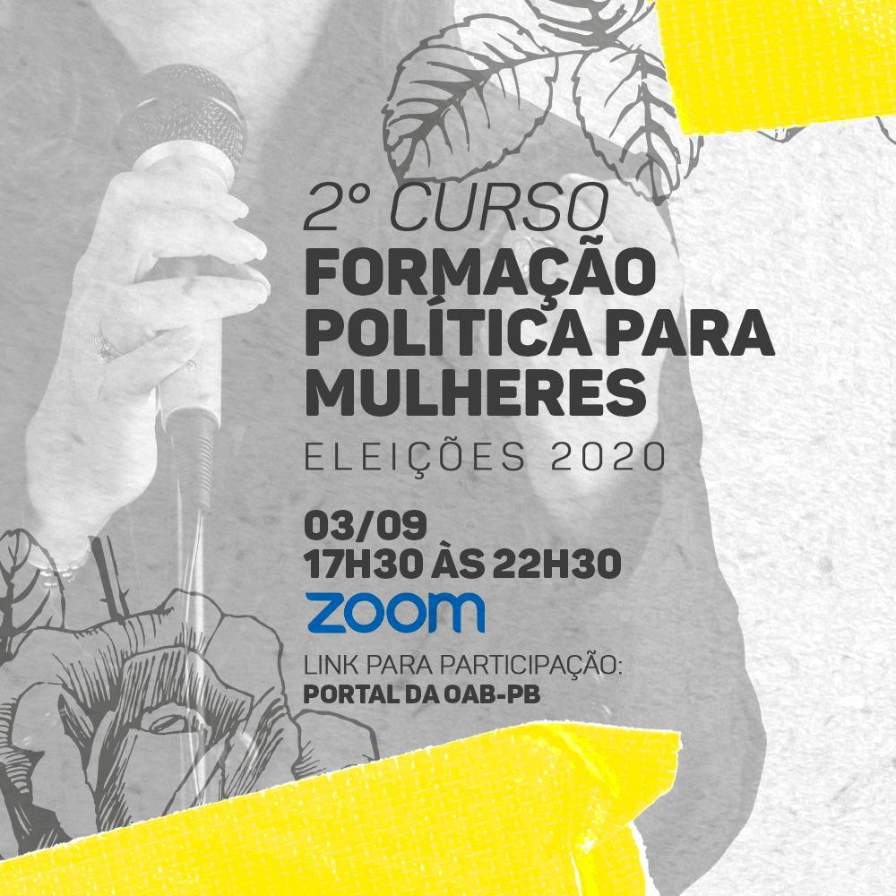 II Curso de Formação Política para Mulheres acontece nesta quinta; participe