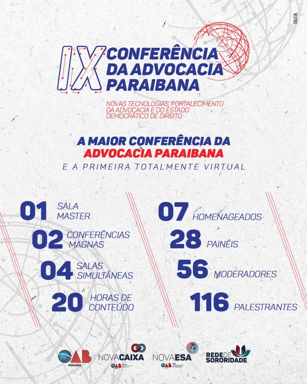 IX Conferência da Advocacia Paraibana está com inscrições abertas; participe