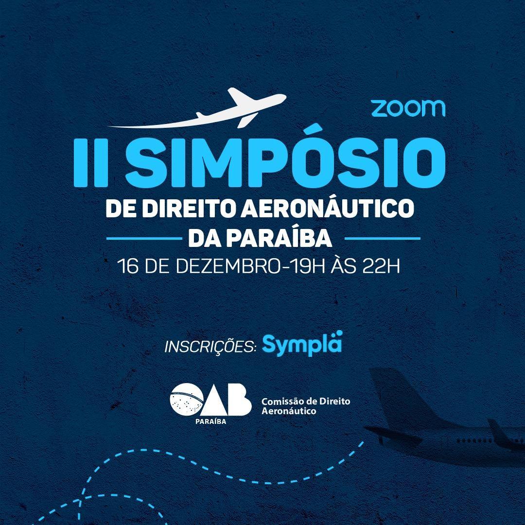 OAB-PB realizará II Simpósio de Direito Aeronáutico em dezembro; participe