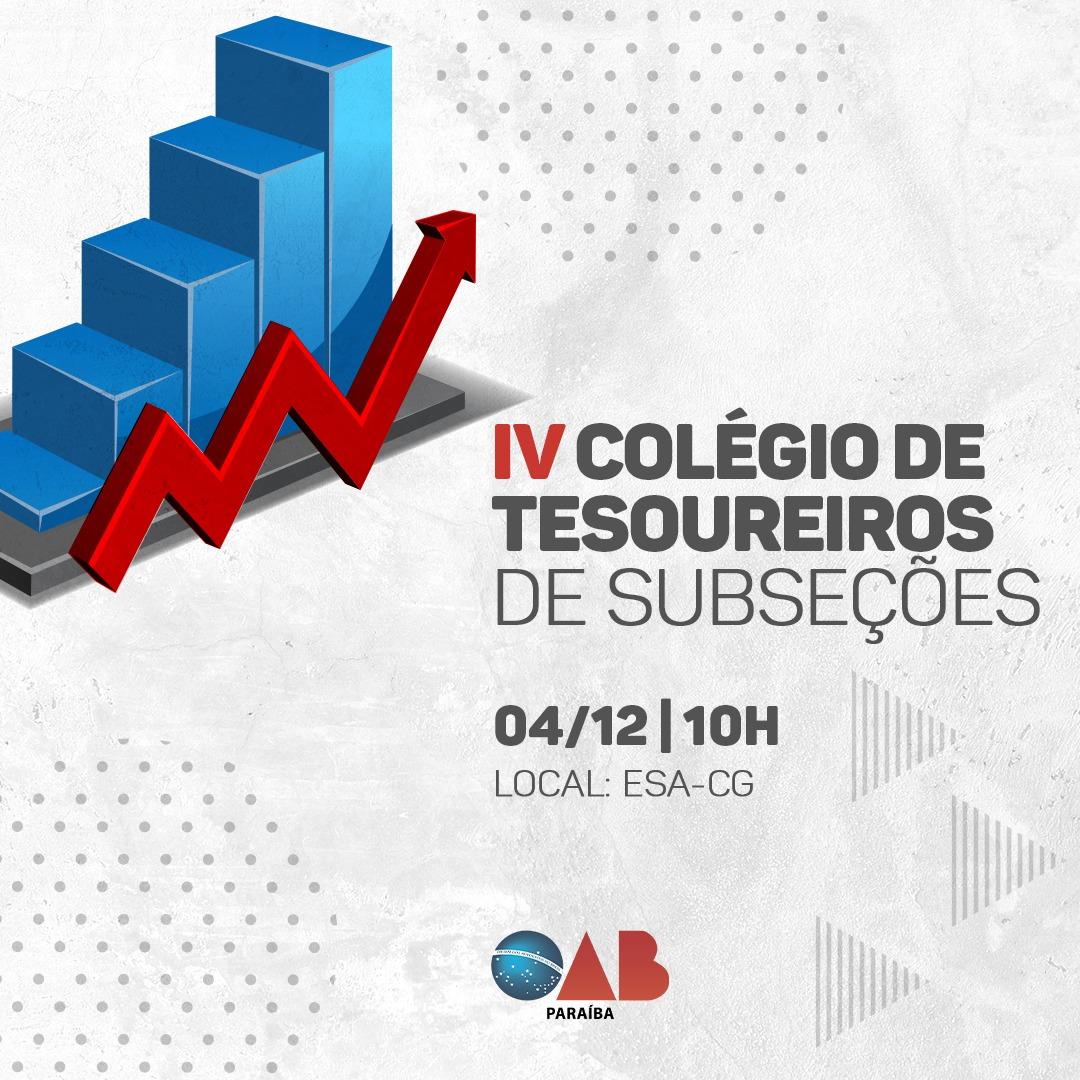 OAB-PB realiza Colégio de Tesoureiros de Subseções em Campina Grande