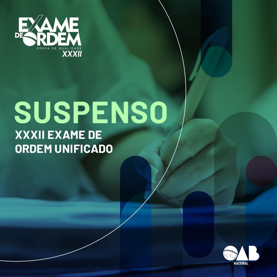 Covid-19: Diretoria do CFOAB suspende realização da prova objetiva do XXXII Exame de Ordem Unificado